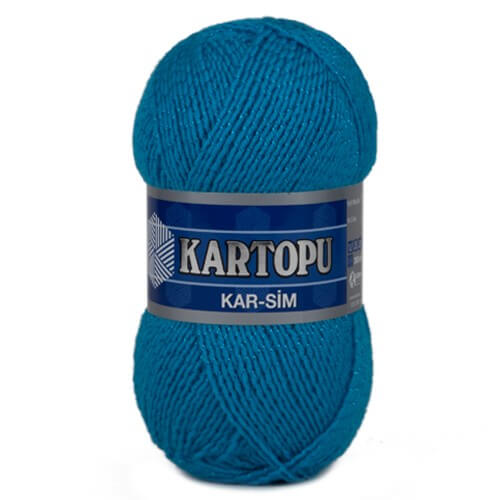 Kartopu 5'li paket Kar-Sim Mavi El Örgü İpi - K512