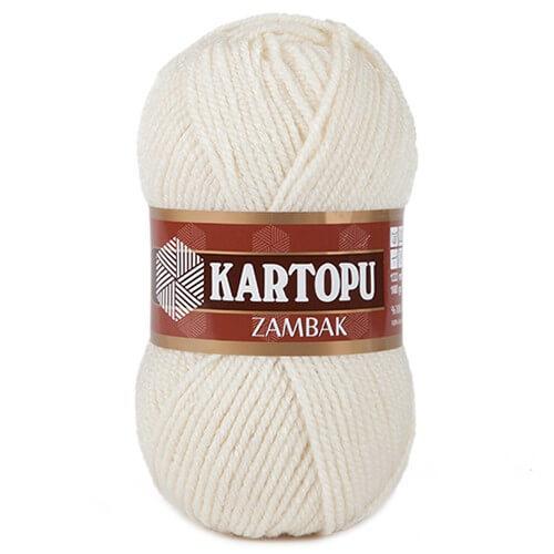 Kartopu Zambak Krem El Örgü İpi - K025