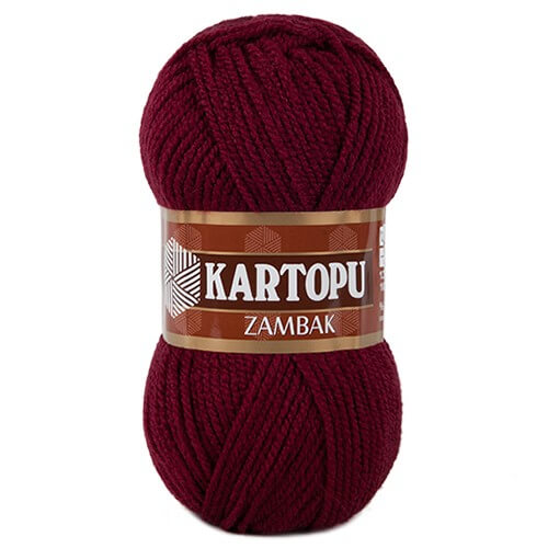 Kartopu Zambak Bordo El Örgü İpi - K110