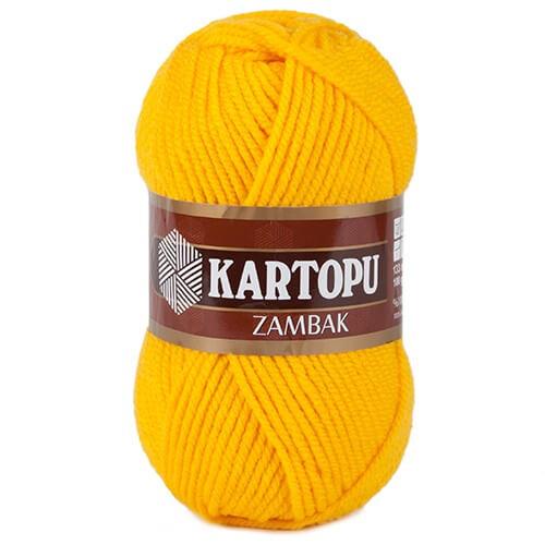 Kartopu Zambak Hardal Sarısı El Örgü İpi - K320