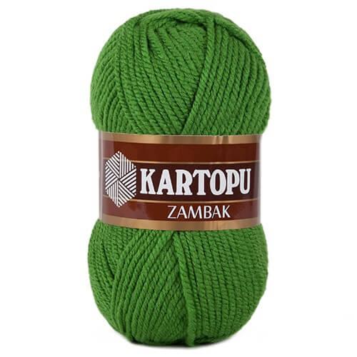 Kartopu Zambak  Yeşil El Örgü İpi - K392