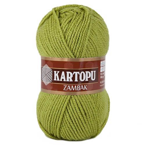 Kartopu Zambak Zeytin Yeşili El Örgü İpi - K442