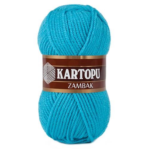 Kartopu Zambak Mavi El Örgü İpi - K515