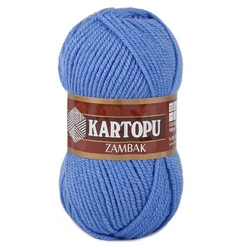 Kartopu Zambak Mavi El Örgü İpi - K535