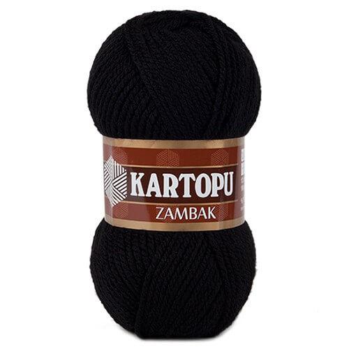 Kartopu Zambak Siyah El Örgü İpi - K940