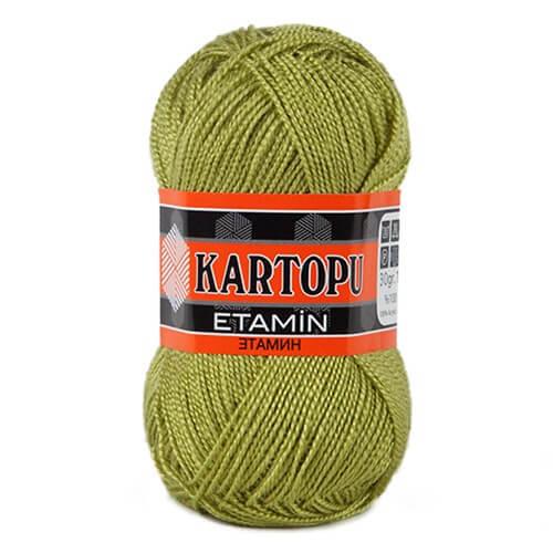 Kartopu Etamin 30gr Zeytin Yeşili Nakış İpliği - K442