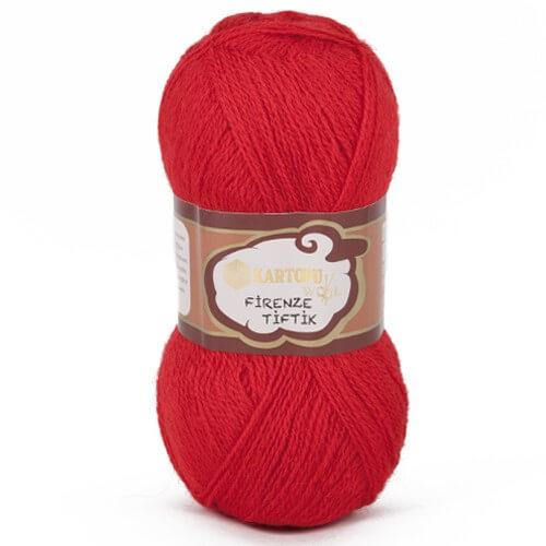 Kartopu 5'li paket Firenze Tiftik Kırmızı El Örgü İpi - K150