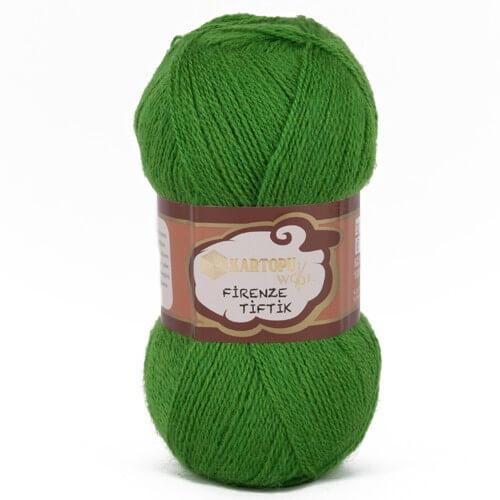 Kartopu 5'li paket Firenze Tiftik Yeşil El Örgü İpi - K392
