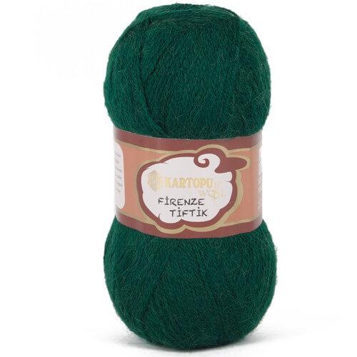 Kartopu 5'li paket Firenze Tiftik Yeşil El Örgü İpi - K480