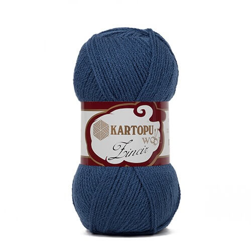 Kartopu Zincir Koyu Mavi El Örgü İpi - K650