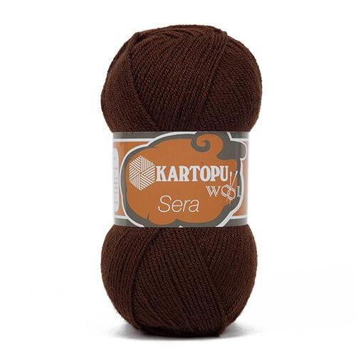 Kartopu Sera Koyu Kahverengi El Örgü İpi - K890