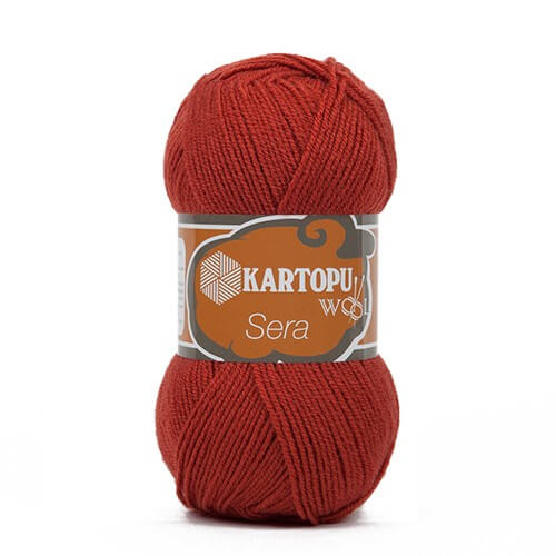 Kartopu Sera Kiremit Rengi El Örgü İpi - K265