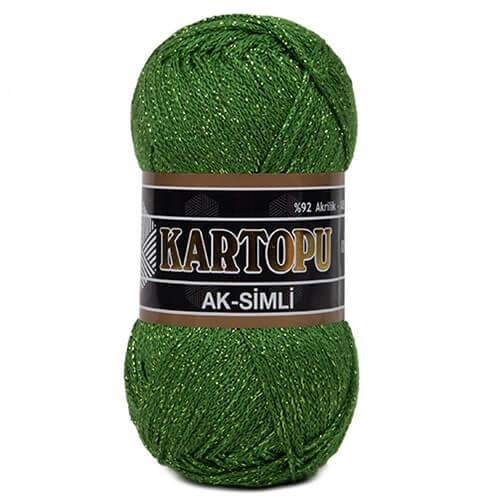 Kartopu 5'li paket Ak-Simli Yeşil El Örgü İpi - K392