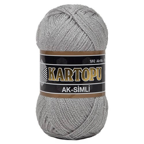 Kartopu 5'li paket Ak-Simli Gri El Örgü İpi - K914
