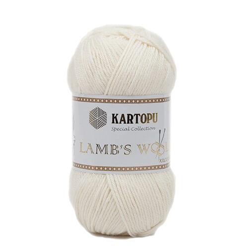 Kartopu 5'li Paket Lamb's Wool Krem El Örgü İpi - K025