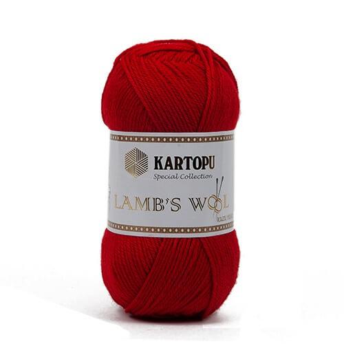 Kartopu 5'li Paket Lamb's Wool Kırmızı El Örgü İpi - K112