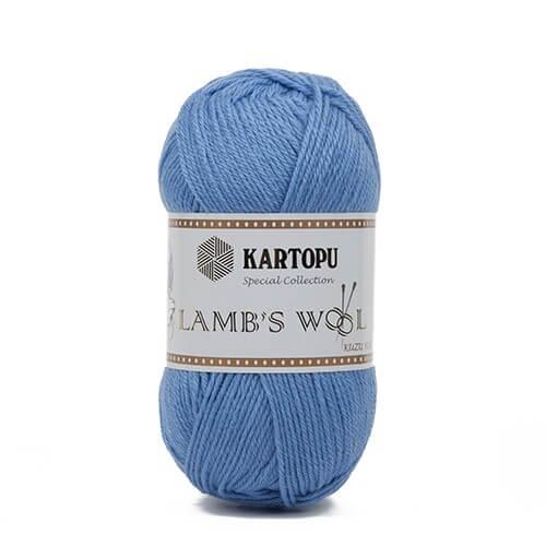 Kartopu 5'li Paket Lamb's Wool Mavi El Örgü İpi - K534