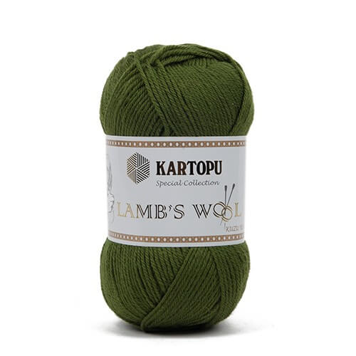 Kartopu 5'li Paket Lamb's Wool  Yeşil El Örgü İpi - K417