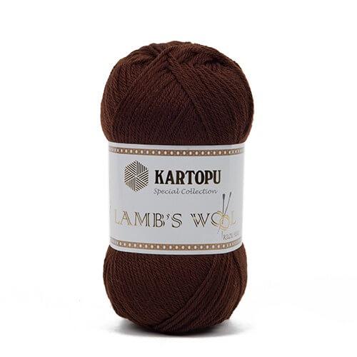 Kartopu 5'li Paket Lamb's Wool Koyu Kahverengi El Örgü İpi - K890