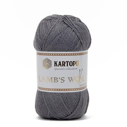 Kartopu 5'li Paket Lamb's Wool Gri El Örgü İpi - K1002