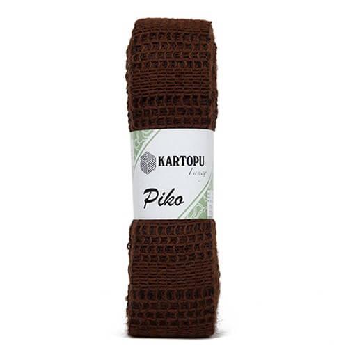Kartopu 5'li Paket Piko Koyu Kahverengi El Örgü İpi - K890