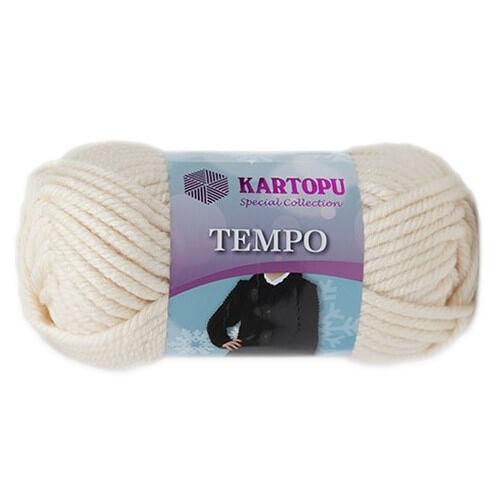 Kartopu Tempo Krem El Örgü İpi - K025