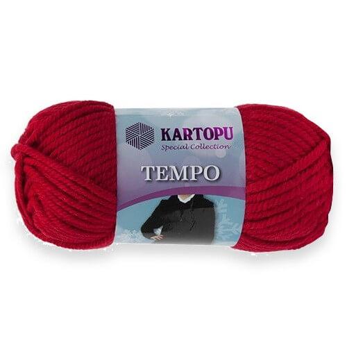 Kartopu Tempo Koyu Kırmızı El Örgü İpi - K132