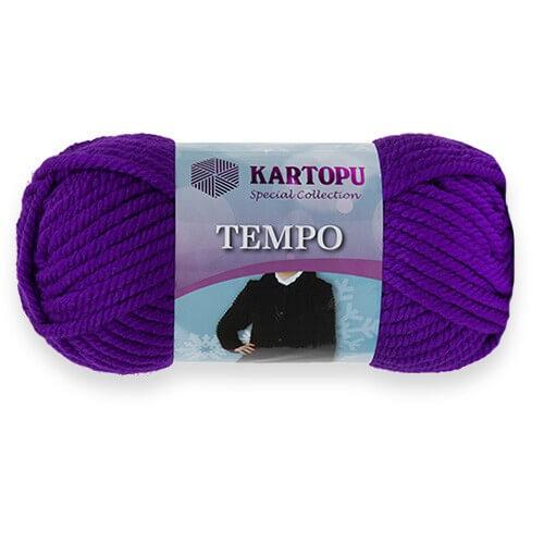 Kartopu Tempo Mor El Örgü İpi - K707
