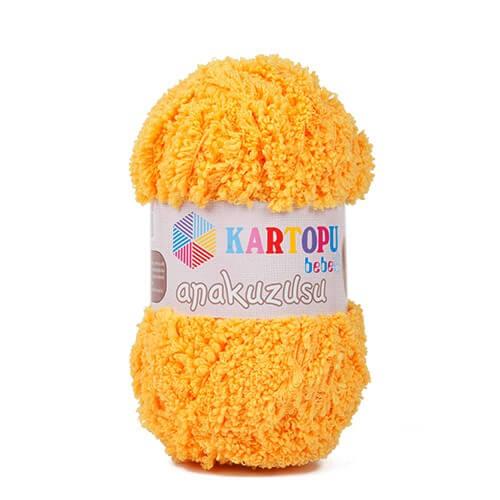 Kartopu Anakuzusu Hardal Sarısı Bebek Yünü - K320