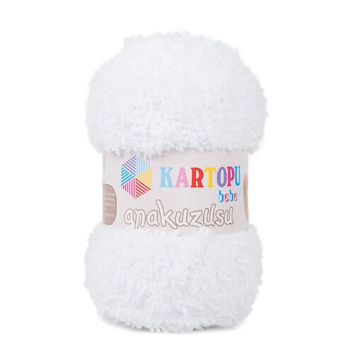 Kartopu Anakuzusu Kar Beyaz Bebek Yünü - K010