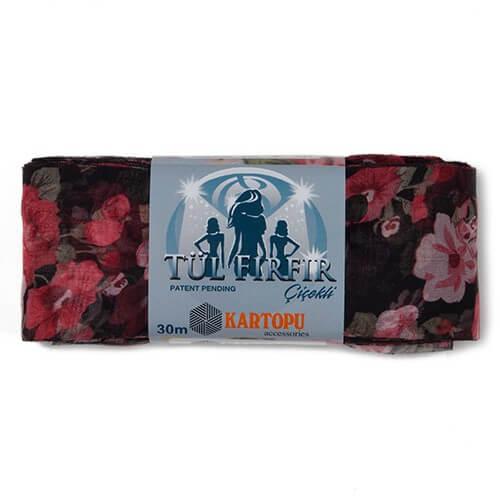 Kartopu Tül Fırfır Çiçekli - 261