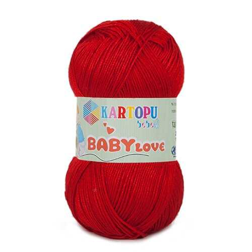 Kartopu Baby Love Kırmızı Bebek Yünü - K150