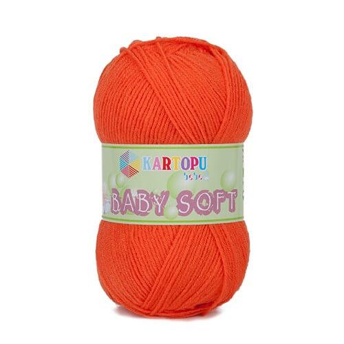 Kartopu 5'li Paket Baby Soft Turuncu Bebek Yünü - K211