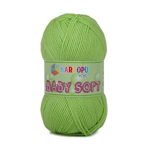 Kartopu 5'li Paket Baby Soft Yeşil Bebek Yünü - K439