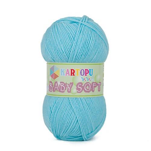 Kartopu Baby Soft Mavi Bebek Yünü - K551
