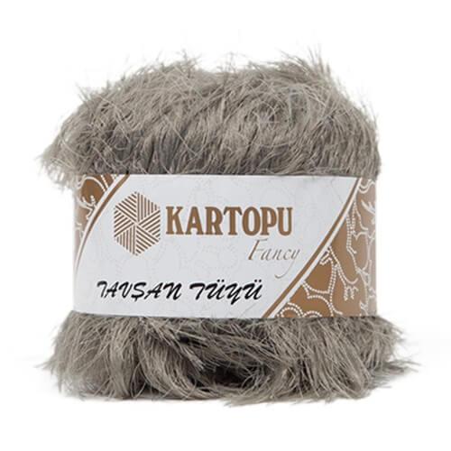 Kartopu 5'li paket Tavşan Tüyü Sakallı Gri El Örgü İpi - KF3003