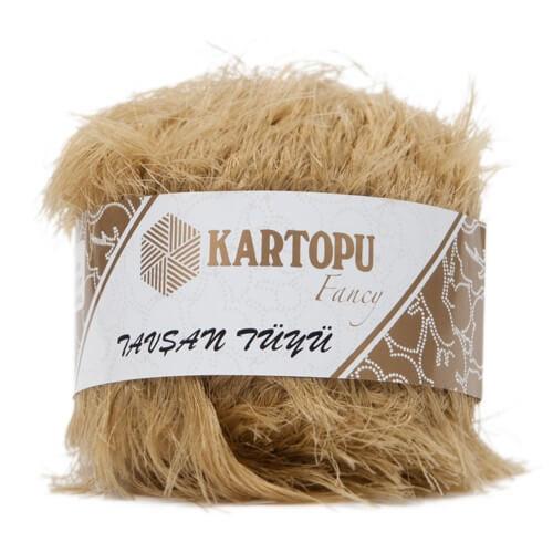 Kartopu 5'li paket Tavşan Tüyü Sakallı Kahverengi El Örgü İpi - KF3005