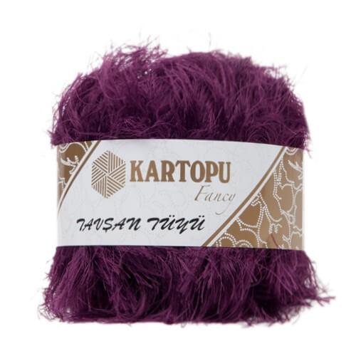 Kartopu 5'li paket Tavşan Tüyü Sakallı Mor El Örgü İpi - KF3008