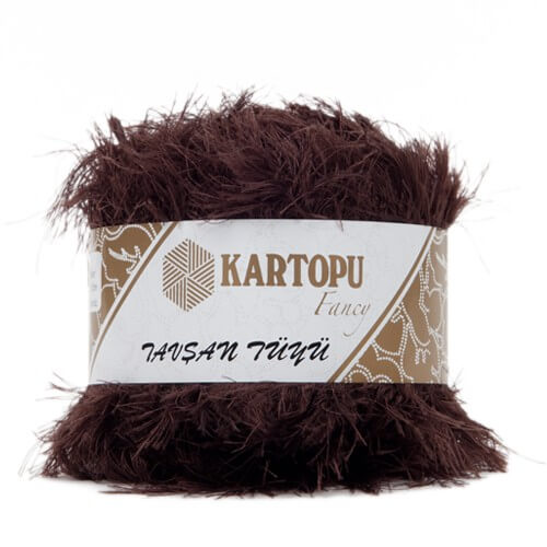 Kartopu 5'li paket Tavşan Tüyü Sakallı Kahverengi El Örgü İpi - KF3009