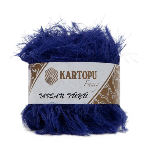 Kartopu 5'li paket Tavşan Tüyü Sakallı Koyu Mavi El Örgü İpi - K624