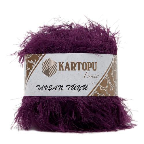 Kartopu 5'li paket Tavşan Tüyü Sakallı Mor El Örgü İpi - K728