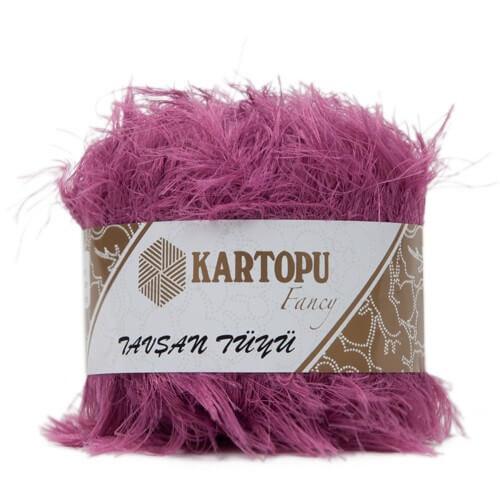 Kartopu 5'li paket Tavşan Tüyü Sakallı Pembe El Örgü İpi - K807