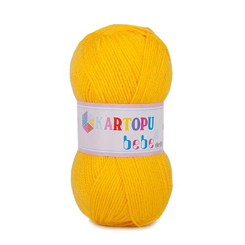 Kartopu 5'li paket Bebe Sarı Bebek Yünü - K322