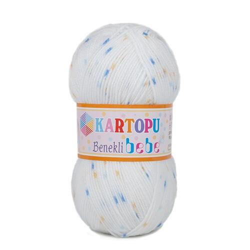Kartopu Benekli Bebe Ebruli Bebek Yünü - H194