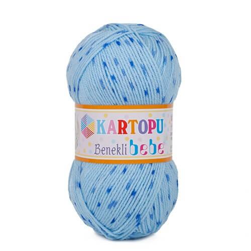 Kartopu Benekli Bebe Ebruli Bebek Yünü - H511