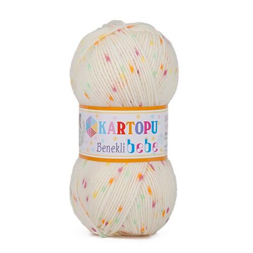 Kartopu Benekli Bebe Ebruli Bebek Yünü - H544