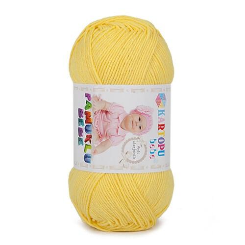 Kartopu Pamuklu Bebe Baby Cotton Sarı Bebek Yünü - K330