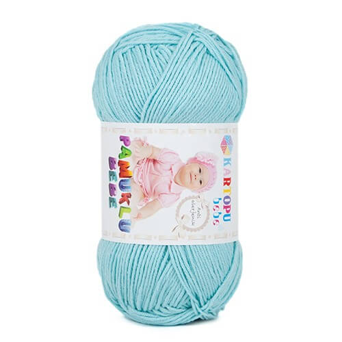 Kartopu Pamuklu Bebe Baby Cotton Açık Mavi Bebek Yünü - K551