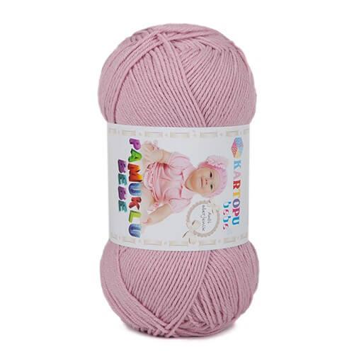 Kartopu Pamuklu Bebe Baby Cotton Pembe Bebek Yünü - K763