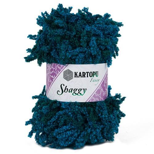 Kartopu 5'li paket Shaggy Sakallı Koyu Mavi El Örgü İpi - KF785